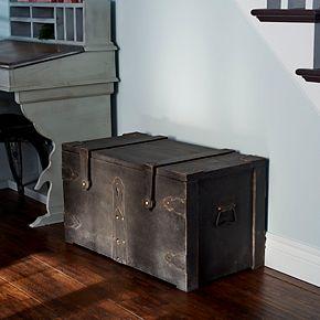 Household Essentials Wooden Trunk