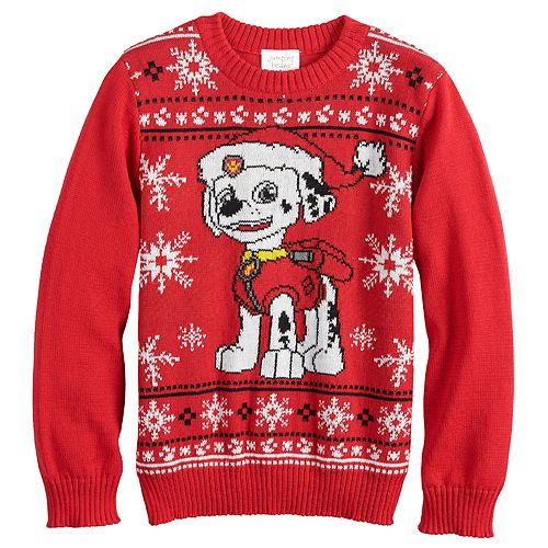Boys 4-8 Jumping Beans® Paw Patrol Marshall Knit Holiday Sweater