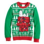 Boys 4-8 Jumping Beans® Peanuts Snoopy Knit Holiday Sweater