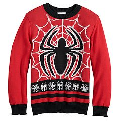 Boys 4-8 Jumping Beans® Marvel Spider-Man Knit Holiday Sweater
