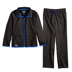 Boys 4-12 Jumping Beans® Active Tricot Zip Track Jacket & Pants Set