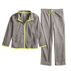 Boys 4-12 Jumping Beans® Active Tricot Zip Track Jacket & Pants Set
