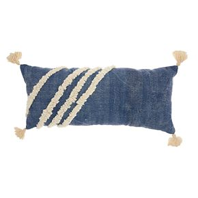 Studio NYC Collection Textured Tassel Throw Pillow by Mina Victory
