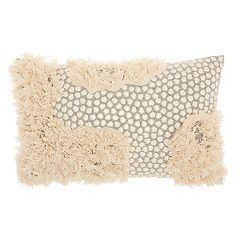 Studio NYC Collection Sequins & Fringe Throw Pillow by Mina Victory