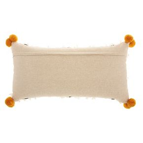 Studio NYC Collection Geometric Pom-Pom Throw Pillow by Mina Victory