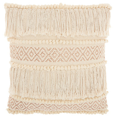 Studio NYC Collection Metallic Ikat Fringe Throw Pillow by Mina Victory