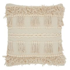 Studio NYC Collection Knots & Fringe Throw Pillow by Mina Victory