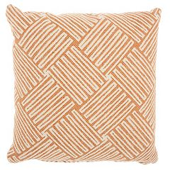 Studio NYC Collection Embroidered Basketweave Throw Pillow by Mina Victory