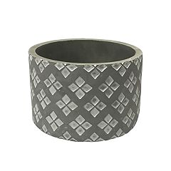 SONOMA Goods for Life™ Indoor / Outdoor Round Tile Print Cement Planter