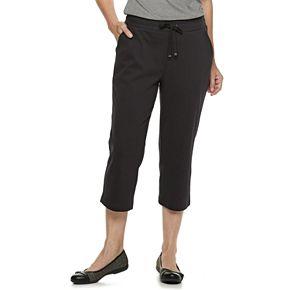 Petites' Croft & Barrow® Extra Soft Pull-On Capri Pants