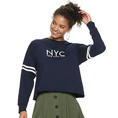 Juniors' NYC Crop Top