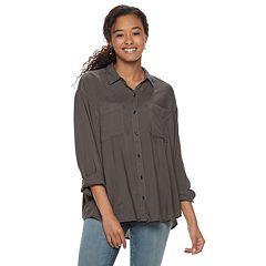 Juniors' Mudd® Button Front Shirt