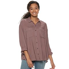 Juniors' Mudd® Button Front Shirt