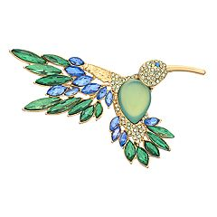 Dana Buchman Blue & Green Simulated Crystal Hummingbird Pin
