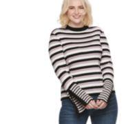 Plus Size POPSUGAR Ribbed Slit-Sleeve Sweater