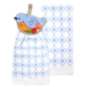 Celebrate Spring Together Bird Tie-Top Kitchen Towel 2-pack