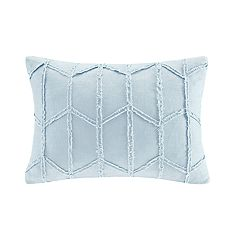 HH Frayed Linen Rectangle Throw Pillow