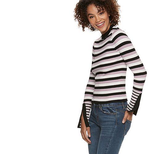 Women's POPSUGAR Ribbed Slit-Sleeve Sweater