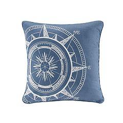 HH Steer Compass Linen Throw Pillow