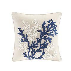 HH Rift Coral Linen Throw Pillow
