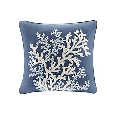 HH Rift Coral Linen Throw Pillow