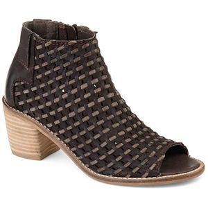 Journee Signature Devine Women's Peep Toe Ankle Boots