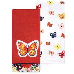 Celebrate Spring Together Butterfly Kitchen Towel 2-pack