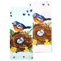 Celebrate Spring Together Bird Nest Kitchen Towel 2-pack