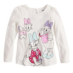Disney's Daisy Duck Girls 4-10 Glittery Graphics Top by Jumping Beans®