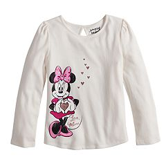 Disney's Minnie Mouse Girls 4-10 'Love Minnie' Glittery Graphic Tee by Jumping Beans®