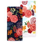 Celebrate Spring Together Floral Toss Kitchen Towel 2-pack