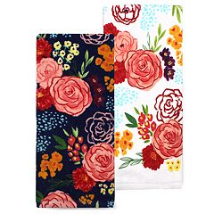 Celebrate Spring Together Floral Toss Kitchen Towel 2-pack