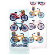 Celebrate Spring Together Bike Kitchen Towel 2-pack