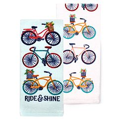 Celebrate Spring Together Bike Kitchen Towel 2-pack