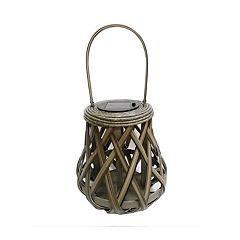 SONOMA Goods for Life™ Small Solar Light-Up Wicker Lantern Table Decor