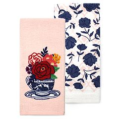 Celebrate Spring Together Flower in a Vessel Kitchen Towel 2-pack