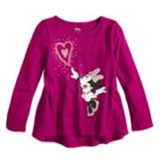 Disney's Minnie Mouse Girls 4-10 Glittery Heart Graphic Tee by Jumping Beans®