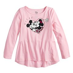 Disney's Minnie Mouse Girls 4-10 Minnie & Mickey Mouse Graphic Tee by Jumping Beans®