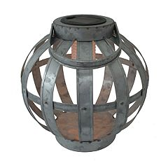 SONOMA Goods for Life™ Small Solar Light-Up Galvanized Lantern Table Decor