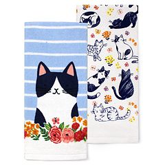 Celebrate Spring Together Cat Kitchen Towel 2-pack