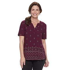 Women's Croft & Barrow® Print Poplin Top