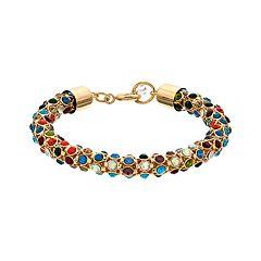 Napier Multi Colored Simulated Crystal Bracelet
