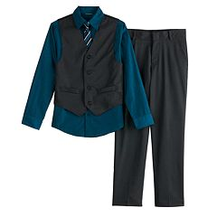 Boys 8-20 Van Heusen 4-Piece Vest Set