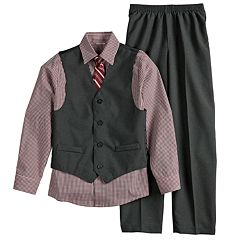 Boys 8-20 Van Heusen 4-Piece Textured Vest Set
