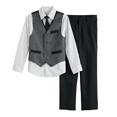 Boys 8-20 Van Heusen Twist 4-Piece Vest Set