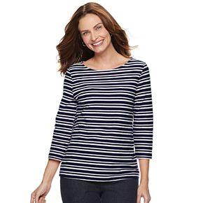 Women's Croft & Barrow® Striped Textured Top