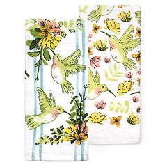 Celebrate Spring Together Hummingbird Kitchen Towel 2-pack