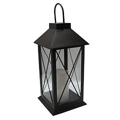 SONOMA Goods for Life™ Large Solar Light-Up Classic Lantern Outdoor Table Decor