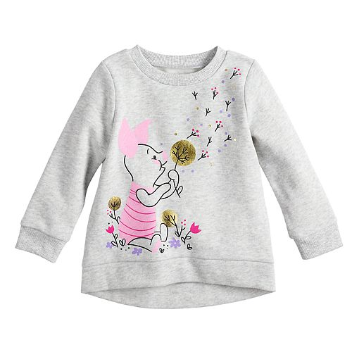 Disney's Winnie The Pooh Piglet Baby Girl Foiled Graphic Fleece Pullover by Jumping Beans®