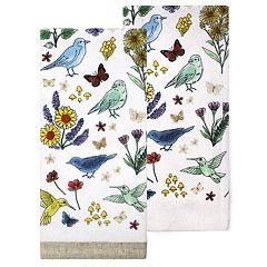 Celebrate Spring Together Birds Kitchen Towel 2-pack